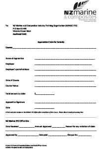 Download an Off Job Training Subsidy Claim Form